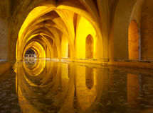 Alcazar queen bath, Seville, Andalusia, Spain. The Queen's bath in Seville Alcazar, Andalusia, Spain Stock Image