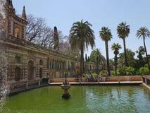 Alcazar real de Sevilla imagenes de archivo