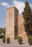 Alcazar real de Sevilla Imagen de archivo