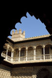 Alcazar real em Sevilha, Spain Foto de Stock Royalty Free