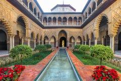 alcazar real Seville Hiszpania zdjęcia stock