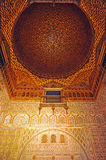 Alcazar Royal in Seville, Hall of Ambassadors, Andalusia, Spain. Mudejar architecture, Hall of Ambassadors named Salon de Embajadores, inside of the Alcazar in Royalty Free Stock Photo