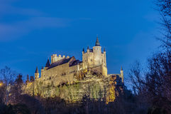 Alcazar of Segovia at Castile and Leon, Spain royalty free stock photo