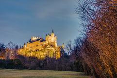 Alcazar of Segovia at Castile and Leon, Spain Royalty Free Stock Photography
