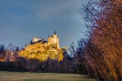Alcazar of Segovia at Castile and Leon, Spain royalty free stock photography