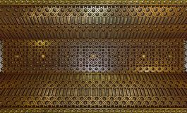 The Alcazar of Segovia. Detail of ceiling of Knights room. stock photos