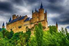 Alcazar of Segovia - the palace and fortress of the Spanish king Stock Photo