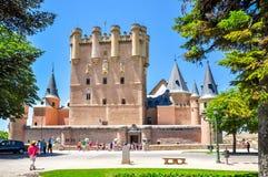 Alcazar of Segovia, Spain stock photography