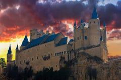 Alcazar in Segovia, Spain Royalty Free Stock Images