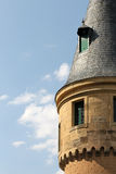 The alcazar of segovia, spain, detail of a tower Royalty Free Stock Image