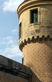 The alcazar of segovia, spain, detail of a tower Stock Image