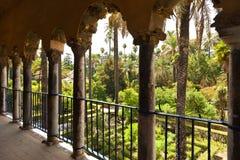 Alcazar of Sevilla gardens Stock Image