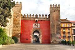 Alcazar of Seville. This is the entry of the Real Alcazar of Seville, Spain Stock Image