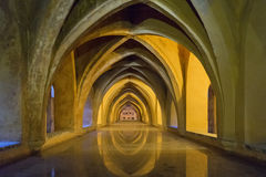 Alcazar Seville, baños De doña marÃa de Padikka Obraz Stock