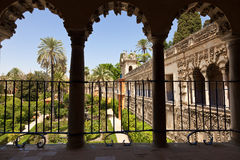 Alcazar of Seville gardens Royalty Free Stock Image