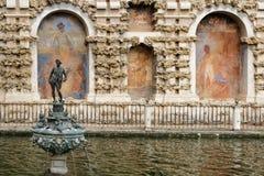 Alcazar of Seville gardens Stock Images