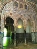 The Alcazar of Seville, the Royal Palace stock photos