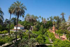 The Alcazar of Seville stock images