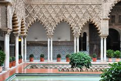 Alcazar of Seville Stock Photos
