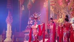 Alcazar show  Pattaya, Thailand. Transsexuals performs dancing at the Alcazar show on August 5, 2014 in Pattaya, Thailand stock footage