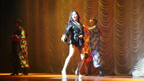 Alcazar show Pattaya, Thailand. Transsexuals performs dancing at the Alcazar show on August 5, 2014 in Pattaya, Thailand stock video footage