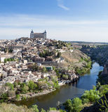 Alcazar surrounded by river Stock Images