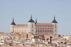 Alcazar of Toledo. The Alcazar is one of the most famous landmarks of the city of Toledo, Spain. First built in the 3rd century A.D., the fortress now houses the Royalty Free Stock Images