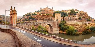 Alcazar in Toledo, Kastilien La Mancha, Spanien Stockfoto