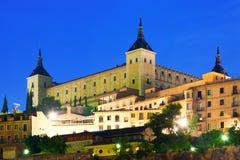 Alcazar of Toledo in night Royalty Free Stock Photography
