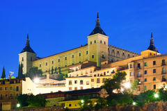 Alcazar of Toledo in night Royalty Free Stock Photography