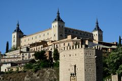 Alcazar in Toledo. Royal Palace in Toledo Spain Stock Photography