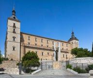 Alcazar of Toledo on a sunny day, Toledo, Spain Royalty Free Stock Photos