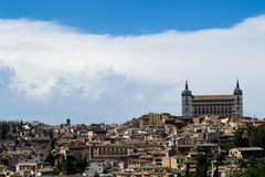 Alcazar of Toledo from the top Royalty Free Stock Image