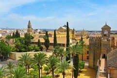 Alcazar-und Kathedrale-Moschee von Cordoba, Spanien Stockbilder