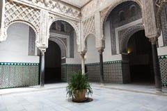 Alcazar verdadero de Sevilla del EL del en de Patio de las Munecas Foto de archivo libre de regalías