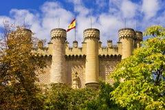 Alcazar von Segovia - der Palast und die Festung des spanischen Königs Stockfotografie
