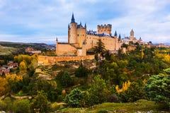Alcazar von Segovia in der Tageszeit Stockbild
