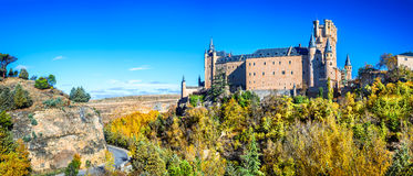 Alcazar von Segovia, Olivenölseife, Spanien Stockbild