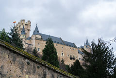 Alcazar von Segovia, von Schloss und von Wohnsitz von Königen der mittelalterlichen Epoche Stockfotos