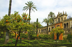 Alcazar von Sevilla lizenzfreies stockbild