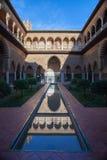 Alcazar von Sevilla, der Hof der Mädchen Stockbilder