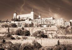 Alcazar von Toledo-Stadt, Kastilien-La Mancha, Spanien Stockbilder