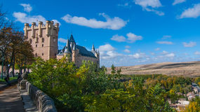 Castle Alcazar in Segovia, Spain. Stock Image