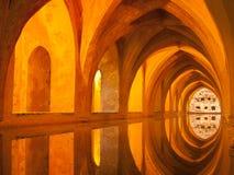Alcazarbad av Lady Maria de Padilla, Seville Royaltyfria Foton