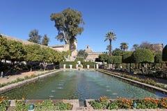 Alcazargärten in Cordoba, Spanien Stockfotos