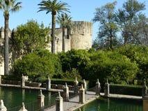 Alcazargärten in Cordoba, Spanien Stockbilder