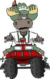Alces alemães que montam um ATV Imagem de Stock Royalty Free