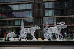 Alces como decoraciones de la Navidad fotografía de archivo