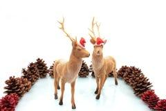 Alces de la Navidad. Foto de archivo libre de regalías
