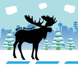 Alces de la Navidad Fotografía de archivo libre de regalías